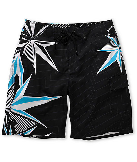 Empyre Diversion Blue 4-Way Stretch Board Shorts