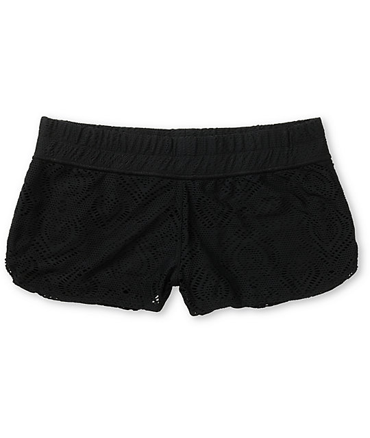 Empyre Dorea Black Crochet Board Shorts