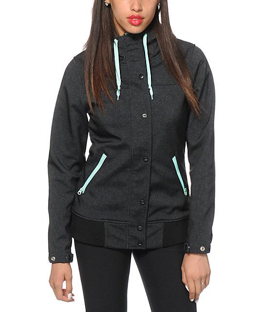 Empyre Dovey Black Textured 10K Softshell Jacket