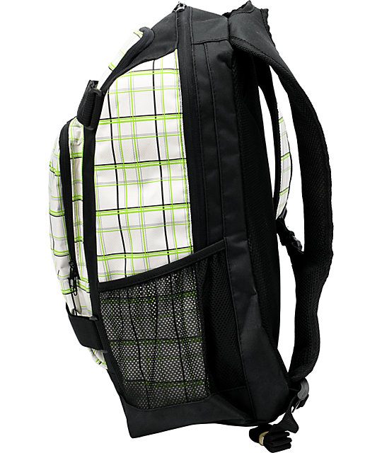 Empyre Downburst Green, White, & Black Backpack