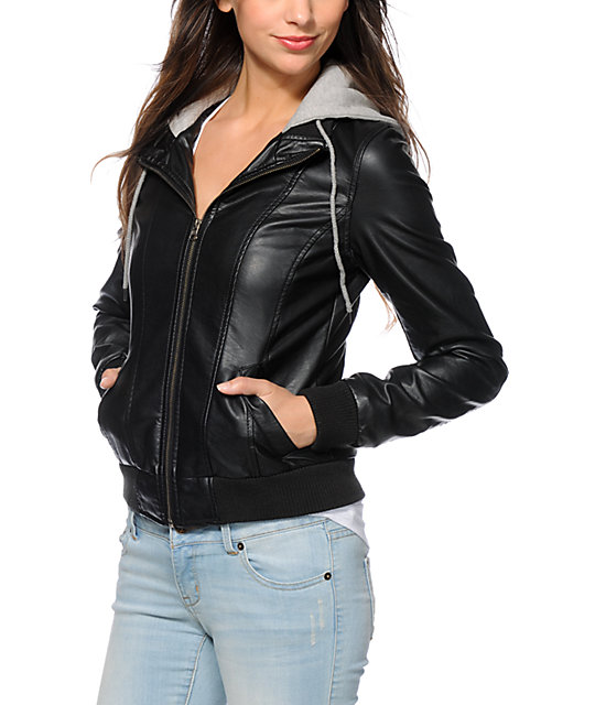 Empyre Drexel Hooded Leather Jacket