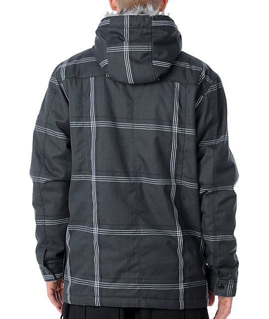 Empyre Drift Grey Plaid Jacket