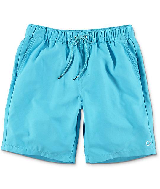 Empyre Dubtub Blue Elastic Waist Board Shorts
