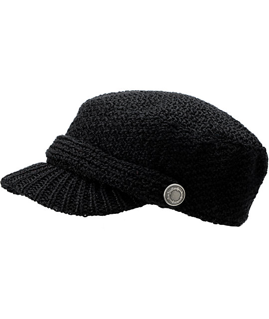 Empyre Eclipse Black Knit Military Hat