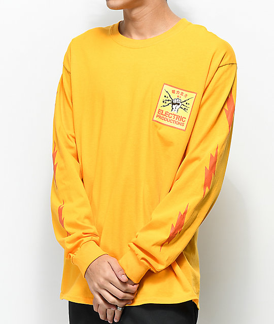 Empyre Electric Production Gold Long Sleeve T Shirt by Empyre