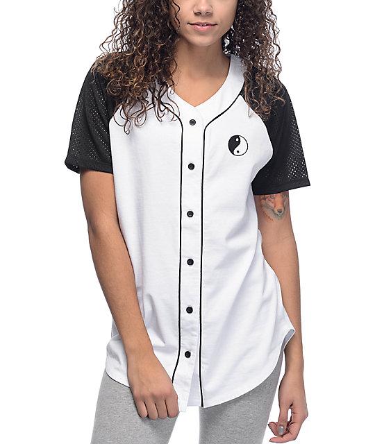 Empyre Eloisa Yin Yang White Baseball Jersey