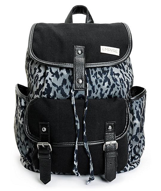 Empyre Emily Grey Leopard Rucksack Backpack