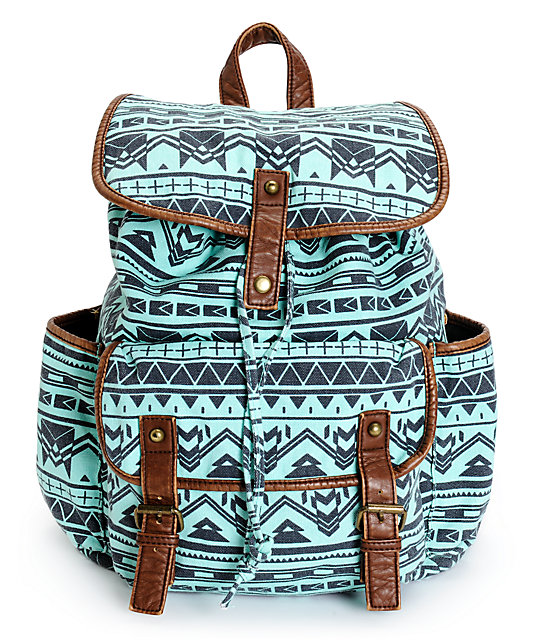 Empyre Emily Mint Tribal Rucksack Backpack