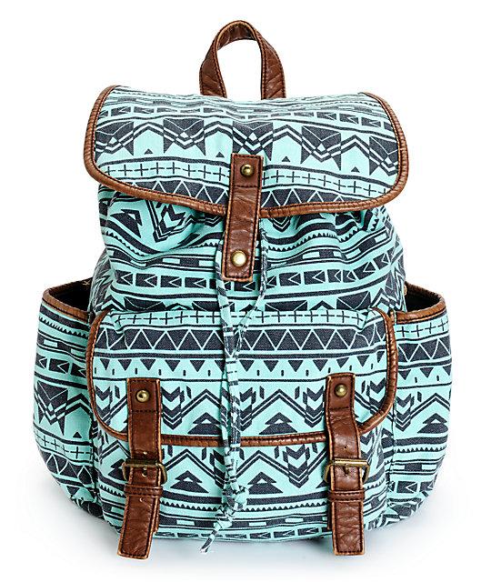 Empyre Emily Mint Tribal Rucksack Backpack