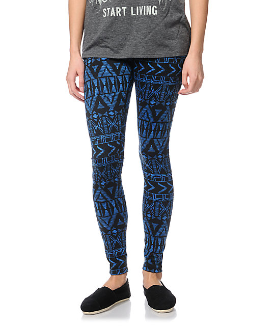 Empyre Ethnic Blue Print Leggings