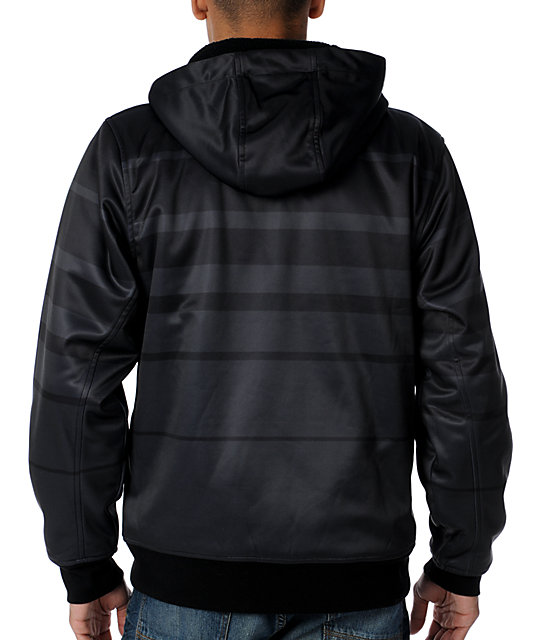 Empyre Fader Black & Charcoal Mens Tech Fleece Jacket