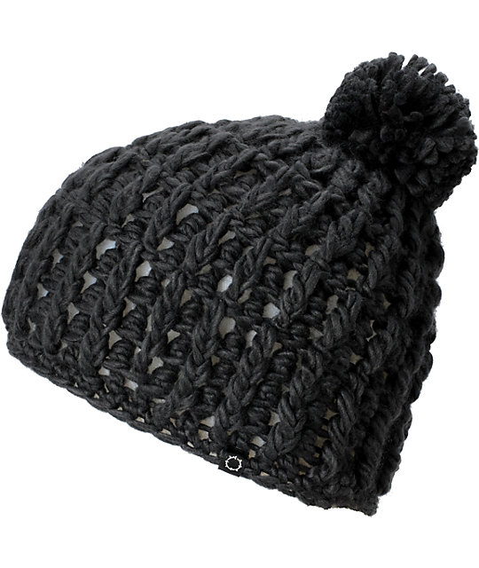 Empyre Fawn Charcoal Pom Beanie