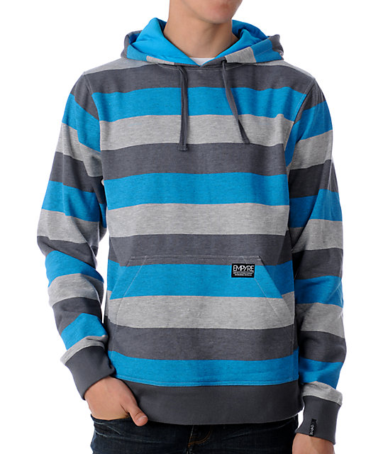 Empyre Fightcastle Grey & Blue Pullover Hoodie