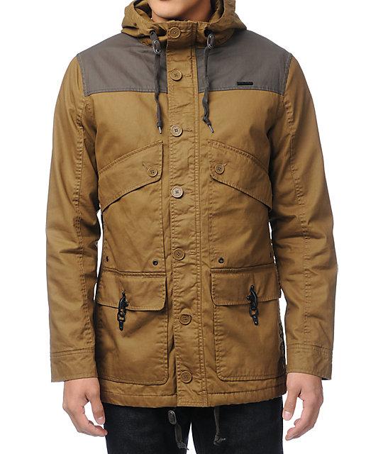 Empyre Firing Line Khaki Canvas Parka Jacket