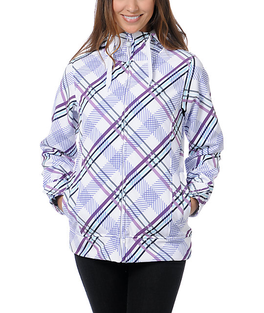 Empyre Fleeting Purple Plaid 10K Softshell Jacket