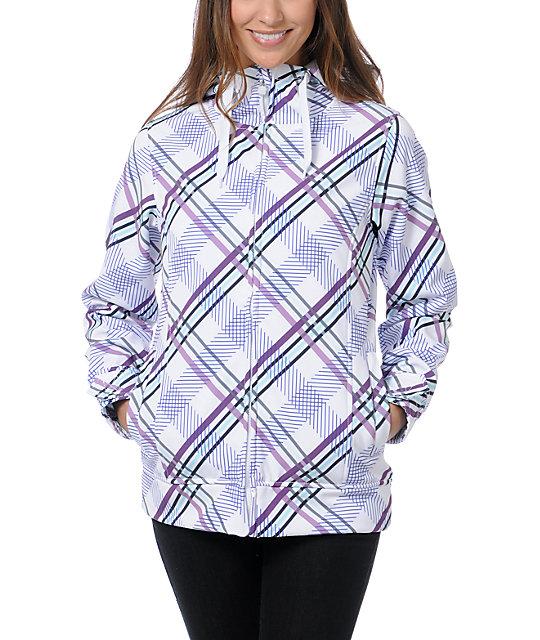 Empyre Fleeting Purple Plaid 10K Softshell Jacket