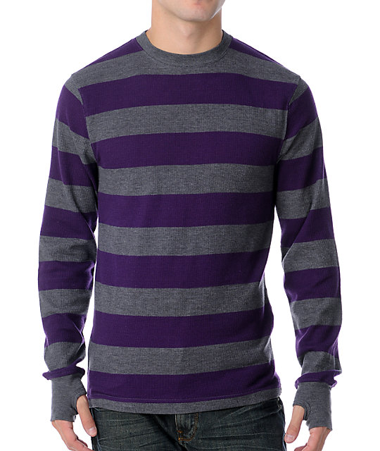Empyre Flexor Charcoal & Purple Stripe Thermal