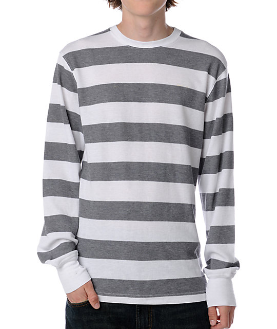 Empyre Flexor White & Grey Stripe Thermal
