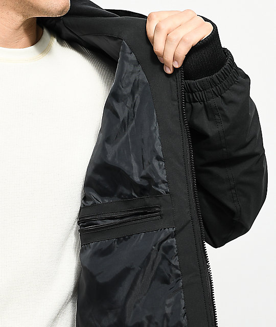 Empyre Flight Black 10K Snowboard Bomber Jacket