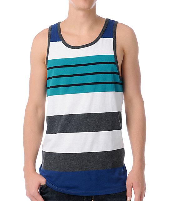 Empyre Flyin Blue Stripe Tank Top