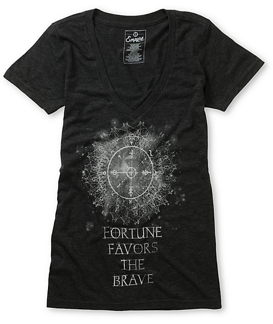 Empyre Fortune Charcoal V-Neck T-Shirt