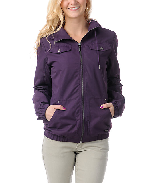 Empyre Frisco Blackberry Purple Windbreaker Jacket