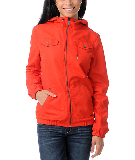 Empyre Frisco Fire Red Windbreaker Jacket