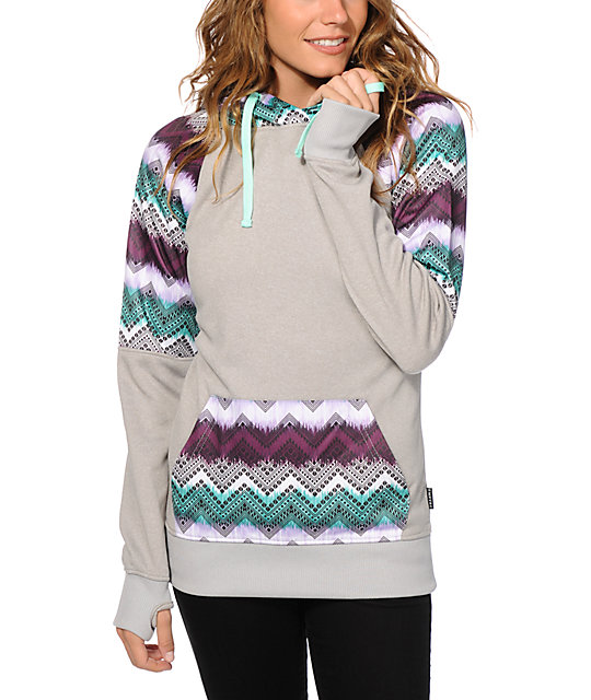 Empyre Frosty Chevron Tribal Tech Fleece Hoodie