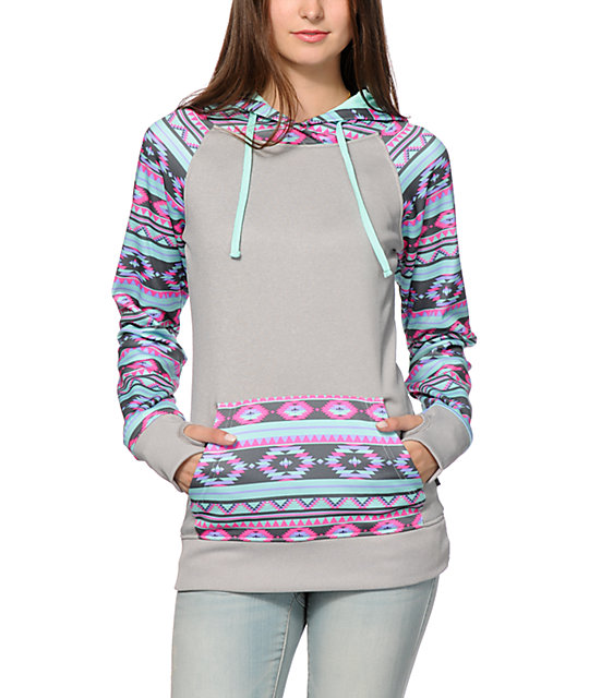 Empyre Frosty Tribal Tech Fleece Hoodie