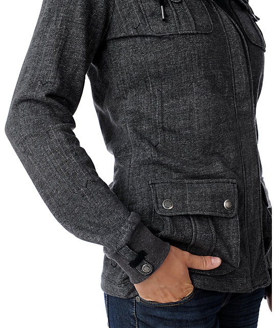 Empyre Furow Herringbone Grey Jacket
