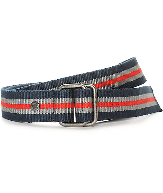 Empyre Fuse Navy, Grey, & Red D-Ring Web Belt