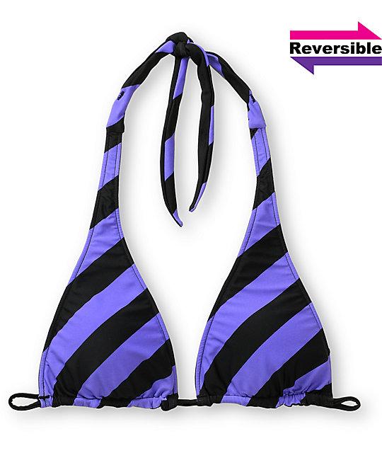Empyre Gable Striped Reversible Bikini Halter Top