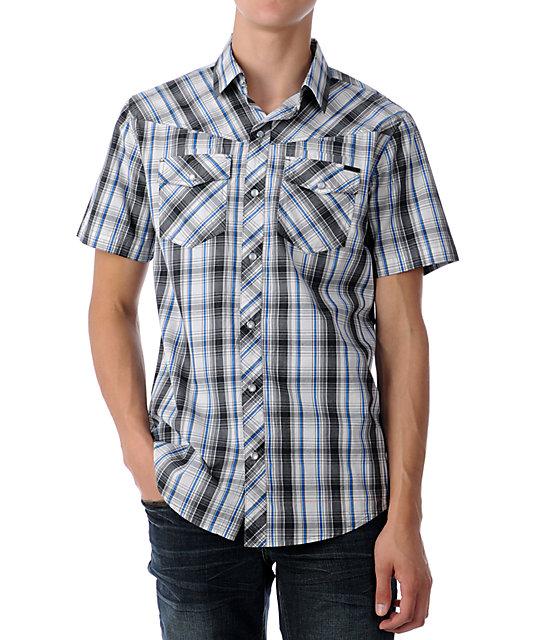 Empyre Gaucho White & Blue Woven Shirt