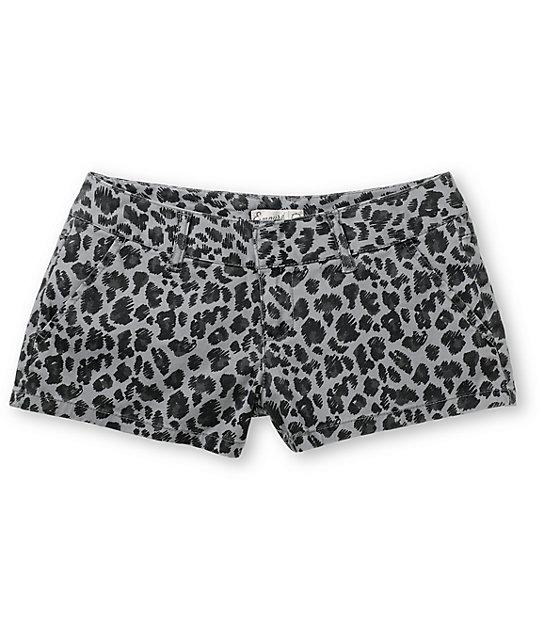 Empyre Girl Arcadia Grey Leopard Print Shorts