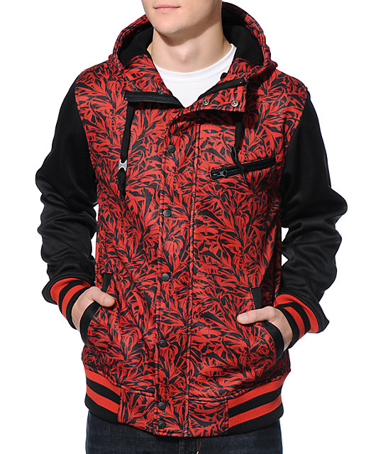 Empyre Go Team Red & Black Varsity Tech Fleece Jacket