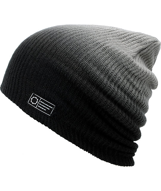 Empyre Grey & Black Horizon Dip Beanie