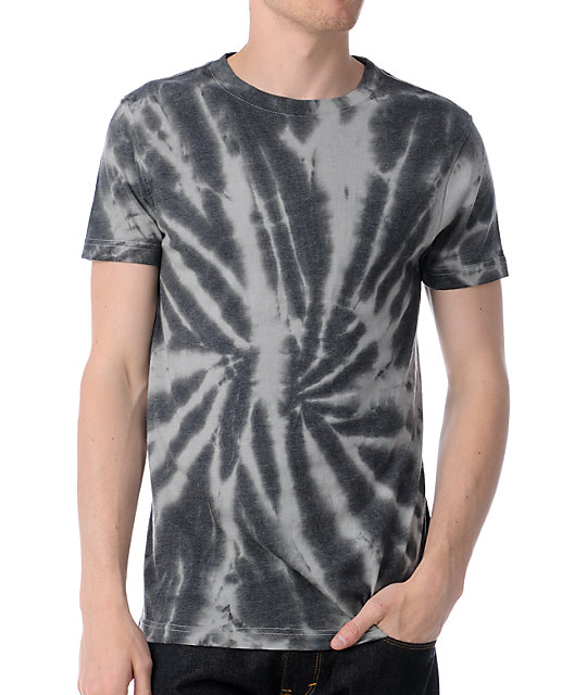 Empyre Groovy Grey & Charcoal Tie Dye T-Shirt