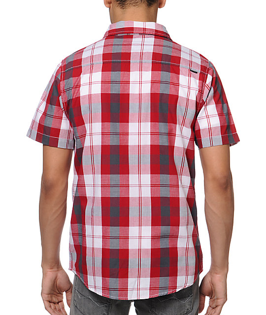 Empyre Growlers Red Plaid Button Up Shirt