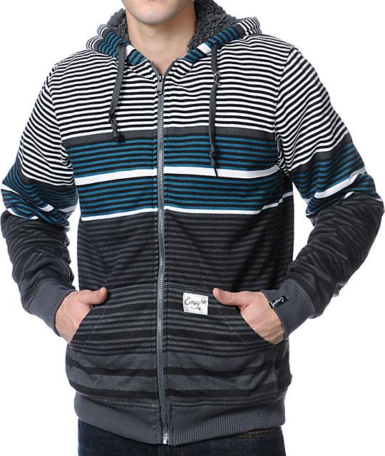 Empyre Gunner Grey Stripe Zip Up Hoodie