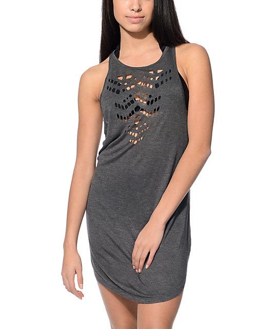 Empyre Haley Grey Laser Cut Out Tank Dress