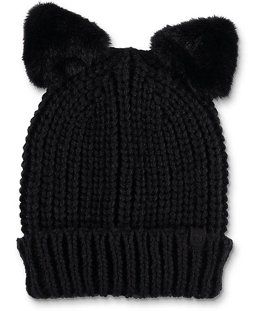Empyre Halle Cat Black Beanie