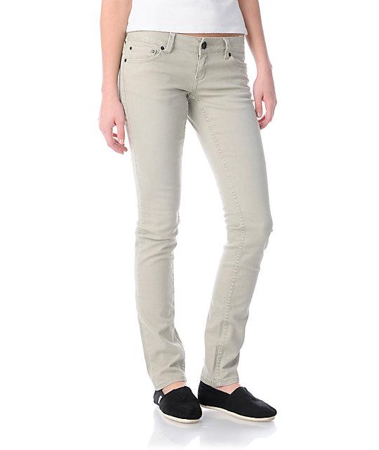 Empyre Hannah Khaki Twill Skinny Jeans at Zumiez : PDP