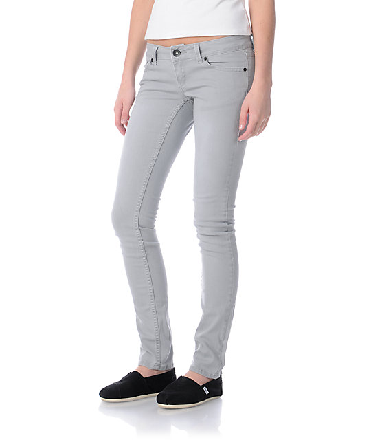 Empyre Hannah Light Grey Twill Skinny Jeans