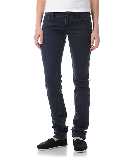 Empyre Hannah Navy Blue Twill Skinny Jeans