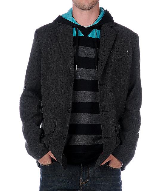 Empyre Harmon Charcoal Grey Blazer Jacket
