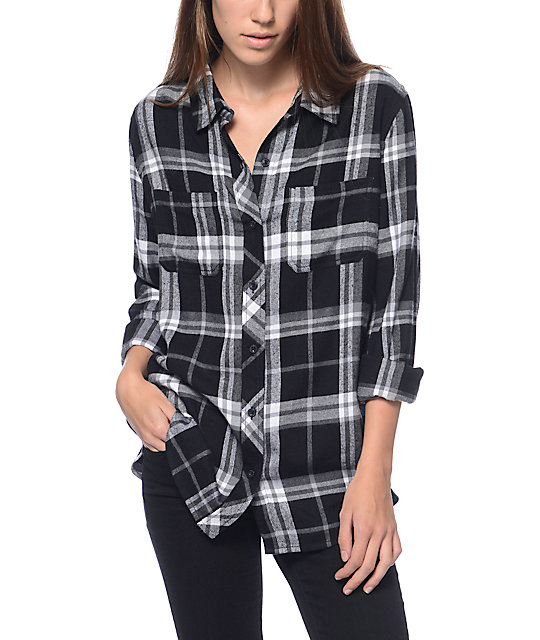 empyre havana black white flannel shirt zumiez