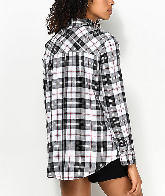 empyre havana roses black white plaid button up shirt. Black Bedroom Furniture Sets. Home Design Ideas