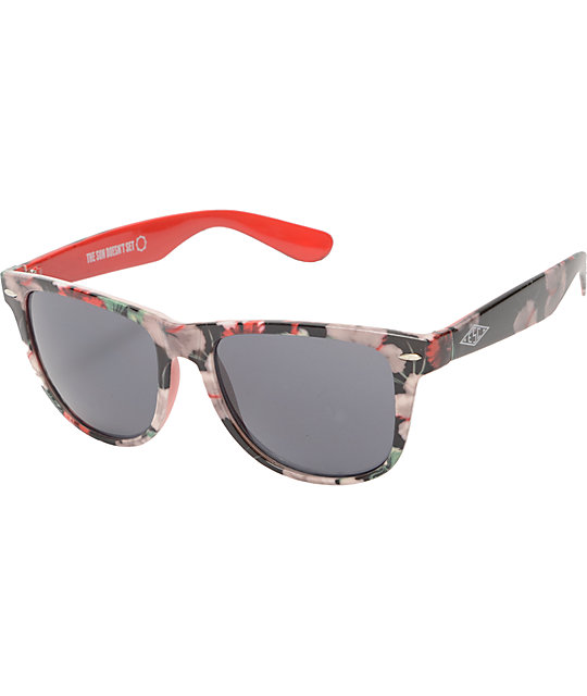 Empyre Hawaiian Print Sunglasses