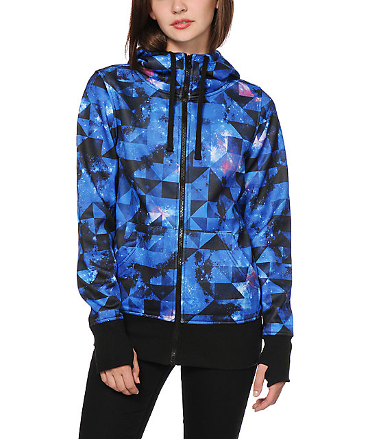 Empyre Hayden Blue Galaxy Tech Fleece Jacket