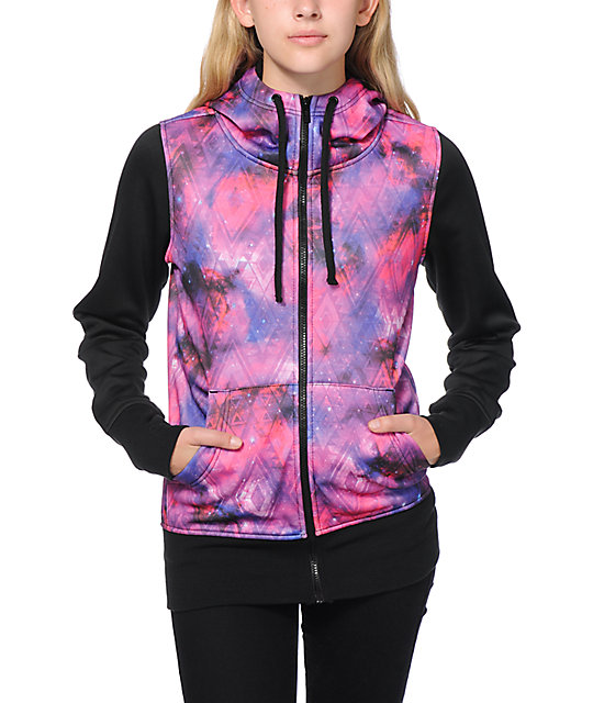 Empyre Hayden Pink Galaxy Tech Fleece Jacket